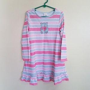 Gymboree HUGS Bear Striped Nightgown Pajamas Small
